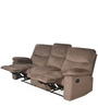 Rays (Three Seater + Single Seater + Single Seater) Recliner in Brown Colour by @home