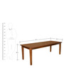 Rays Eight Seater Dining Table in Natural Colour by @home