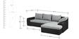 Recha L Shape Sofa in Black & Grey Colour by Madesos