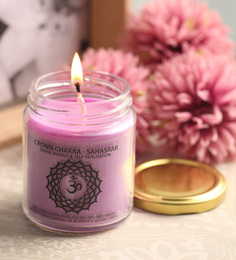 Resonance Meditation Neroli & Frankinscense Aroma Crown Chakra Essential Oil Healing Therapy Scented Candle - 1486848