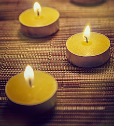 Resonance Candles Yellow Tea Light Candles - Set Of 50