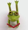 Reading Frog Figurine by The Yellow Door