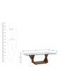 Rectangle Coffee Table in Brown Colour by Parin