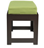 Rectangular Coffee Table with Green Cushioned Stools by ARRA