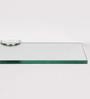 Regis White Glass Bathroom Shelf