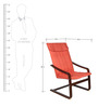 Relaxing Chair in Orange Colour by Parin