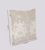 Reme Beige Cotton 16 x 16 Inch Embroidered Cushion Cover - Set of 2