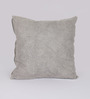 Reme Grey Cotton 16 x 16 Inch Embroidered Cushion Cover - Set of 2