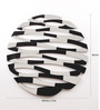 Renaissance Mirrors Black MDF Abstract Round Decorative Mirror