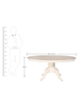 Resto Six Seater Dining Table in White Colour by Godrej Interio
