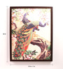 Retcomm Art Wooden 18 x 1 x 24 Inch Beautiful Peacocks Framed Canvas Painting
