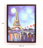 Retcomm Art Wooden 18 x 1 x 24 Inch Shaded Eiffel Tower Framed Canvas Painting