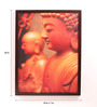 Retcomm Art Wooden 18 x 1 x 24 Inch Wooden Buddha Side View Framed Canvas Painting