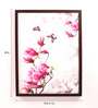 Retcomm Art Wooden 24 x 1 x 18 Inch Retcomm Butterflies N Flowers Framed Canvas Painting