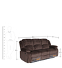 Rhea Three Seater Electric Recliner in Coffee Brown Colour by HomeTown