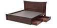 Richard Queen Bed with Storage in Red Colour by Durian