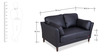 Richmond Two Seater Sofa in Eerie Black & Jet Black Colour by Durian
