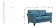 Rio Branco Two Seater Sofa in Denim Blue Colour by CasaCraft
