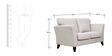Rio Branco Two Seater Sofa in Vanilla Colour by CasaCraft