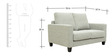 Rio Grande Two Seater Sofa in Silver Grey Colour by CasaCraft