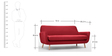 Rio Three Seater Sofa in Gradient Pink Colour by Madesos