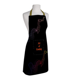 Right Art Of Cooking Multicolor Polyester Free Size Apron