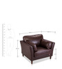 Richmond One Seater Sofa in Chocolate Brown Colour by Durian
