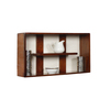 Rio Contemporary Wall Shelf in Brown by CasaCraft