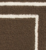 Riva Carpets Brown Cotton Rectangular 24 x 16 Inch Bath Mat