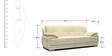 Rocco Leatherette Collection - Three Seater in Cream Colour by Furny
