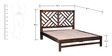 Rochelle King Size Bed in Provincial Teak Finish by Woodsworth