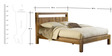 Rodeo Solid Wood Queen Bed in Brown Colour by Asian Arts