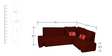 Rome L-Shaped Sectional Sofa in Maroon Color by Home City