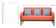 Rome Three Seater Sofa in Rust Colour by Furnitech