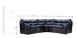 Rosabelle Comfy Modular Corner Sofa in Black Colour by Furny
