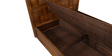 Royal Queen Bed with Storage in Dark Oak Finish by Evok