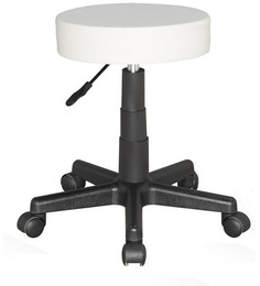 Round Cafeteria Cum Bar Stool In White Colour By The Furniture Store