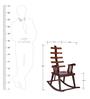 Rocking Chair in Brown Polish by Karigar
