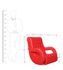 Rocking Chair in Red Colour by Parin