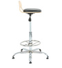 Rolly Bar Stool in Black  by The Furniture Store