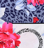 Rosepetal Blue Cotton Floral Double Bed Sheet Set (with Pillow Covers)
