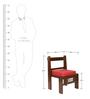 Royal Mesh Teak Wood Chair with Maroon Colour Jute Cushion in Mahogany Finish by VarEesha