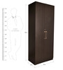 Royal Two Door Wardrobe with Premium Hardware Fittings in Wenge by Pine Crest