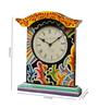 Rural Craft Multicolour Resin Rajhasthani Desk Clock