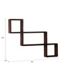 Hives Eclectic Wall Shelves Set of 2 in Natural Teak by Bohemiana