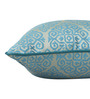 S9Home by Seasons Blue Polyester 16 x 16 Inch Traditional Cushion Cover with Piping