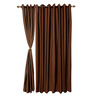 S9home by Seasons Brown Door Curtains Polyester (Set of 2)