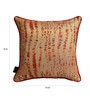 S9Home by Seasons Gold & Red Polyester 16 x 16 Inch Contemporary Cushion Cover with Piping - Set of 4
