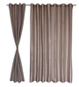 S9home by Seasons Gray Polyester Solid Window Curtain - Set of 2