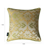 S9Home by Seasons Green & Yellow Polyester 16 x 16 Inch Traditional Cushion Cover with Piping